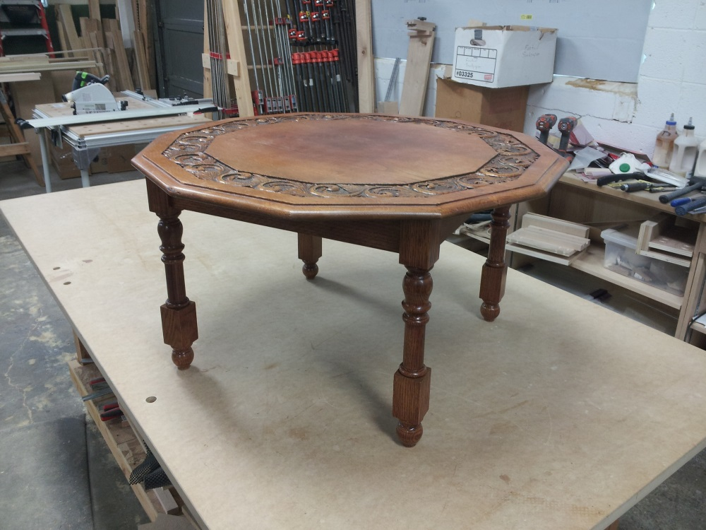 Antique table which needed a new set of legs.